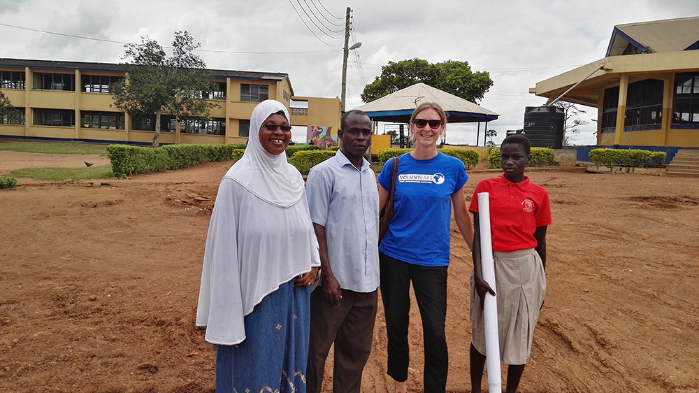 A volunteer and local teachers at one of our partner Deaf schools in Ghana