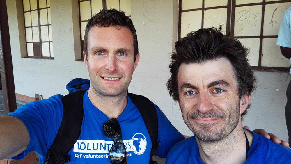 Richard Clowes, Director of VoluntEars, and Nicolas Hall in Sri Lanka