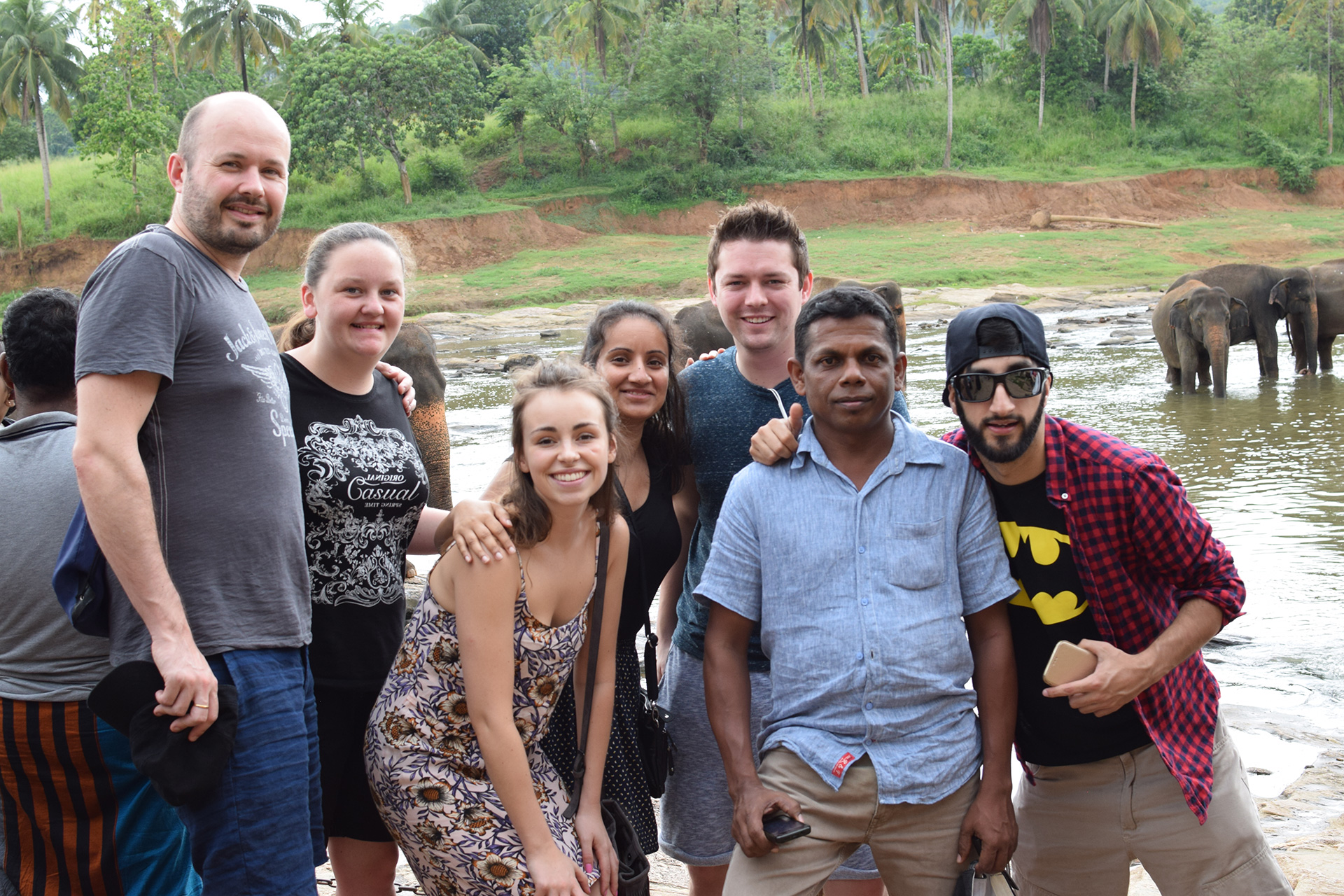 Come face to face with huge elephants in Sri Lanka during a 2 week group trip with VoluntEars