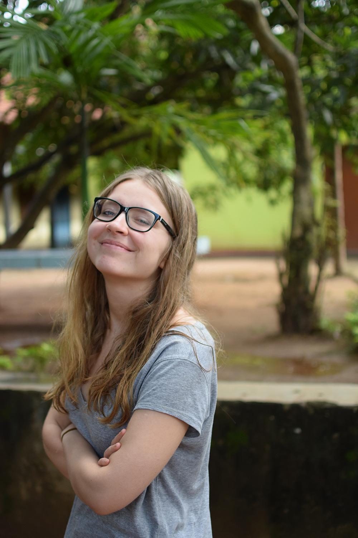 Karolina Pakenaite in Sri Lanka with VoluntEars
