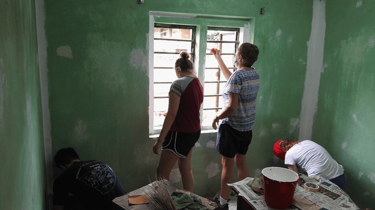 Renovating a Deaf school dormitory in Kathmandu, Nepal with VoluntEars