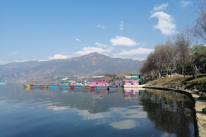 Relax by the lake in Pokhara during a VoluntEars Nepal trip