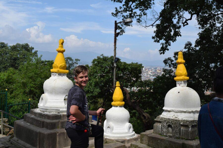 Noah checking the view at Swayambunath (the Monkey Temple) in Kathmandu
