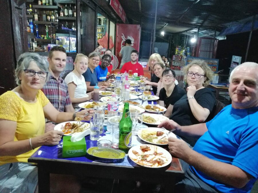One of the many local restaurants used by VoluntEars in Nepal