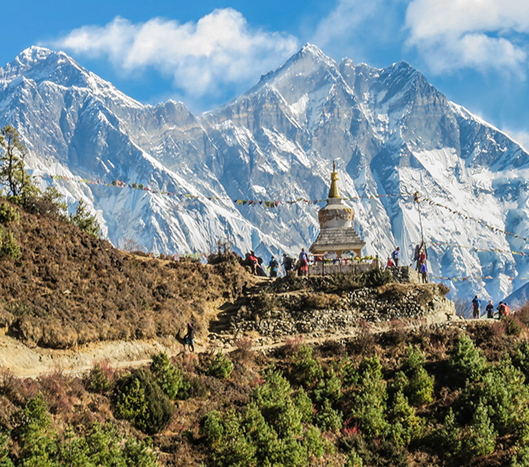 Trek to Everest Base Camp on a VoluntEars trip to Nepal