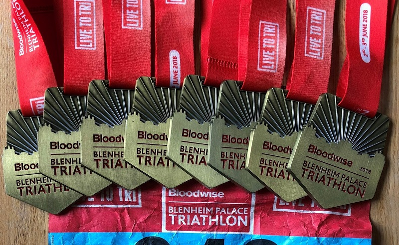 Blenheim Palace Triathlon medal